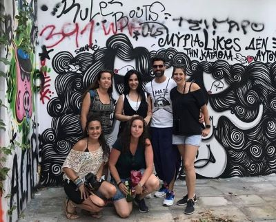 Grupo de un walking tour en Exarchia
